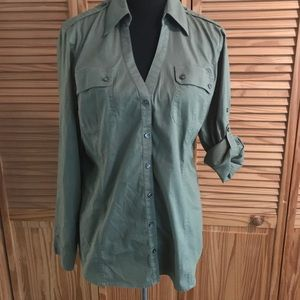 Express button front top, long or 3/4 sleeve